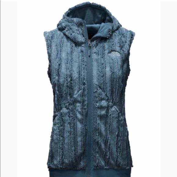 cfdd5909fec0 The North Face Ink Blue Furlander Faux Fur Vest